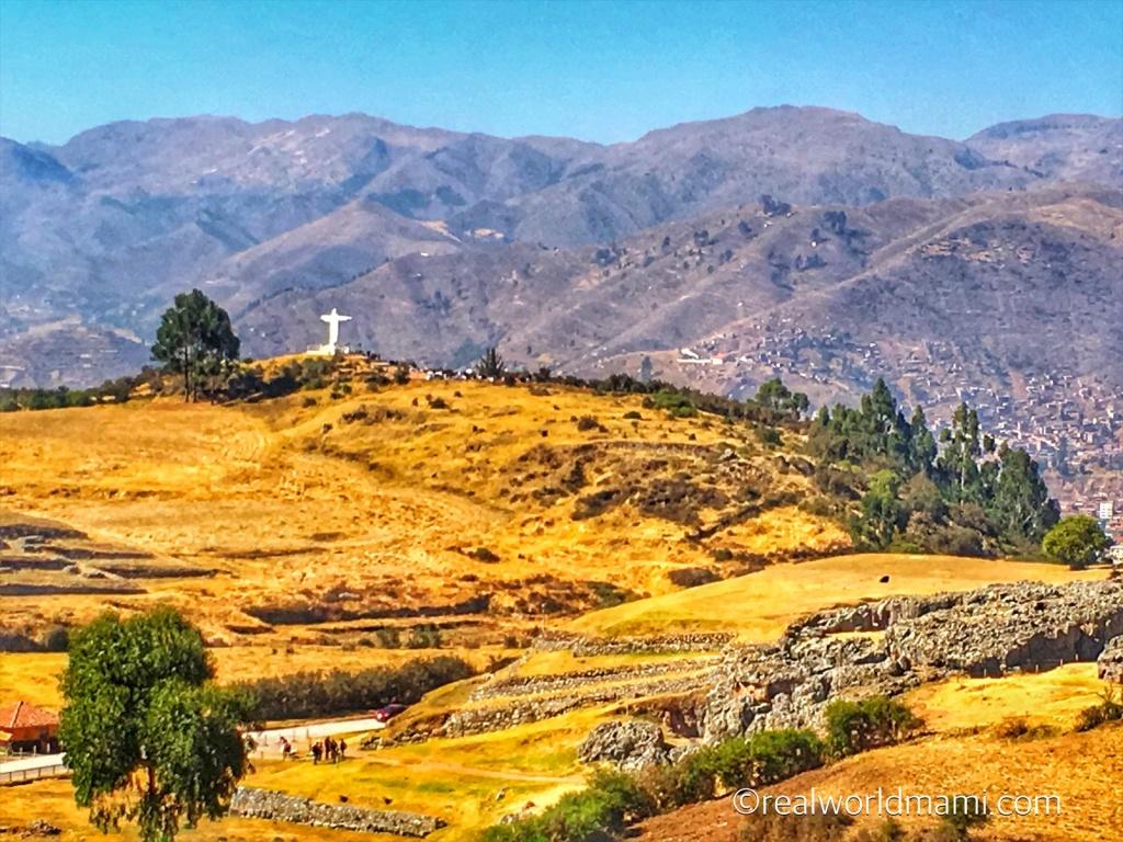 family in Peru: Cusco Sacsayhuaman