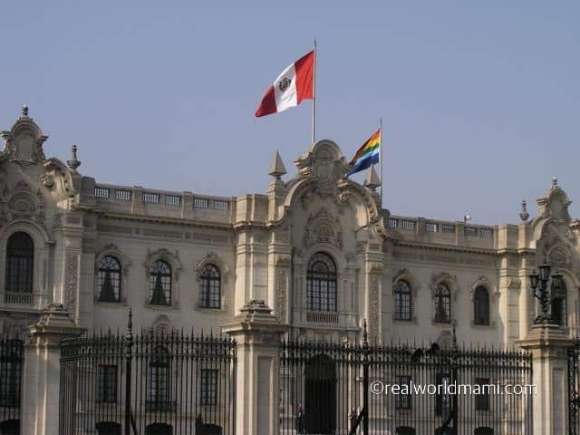Lima Peru Government Palace. Traveling with kids