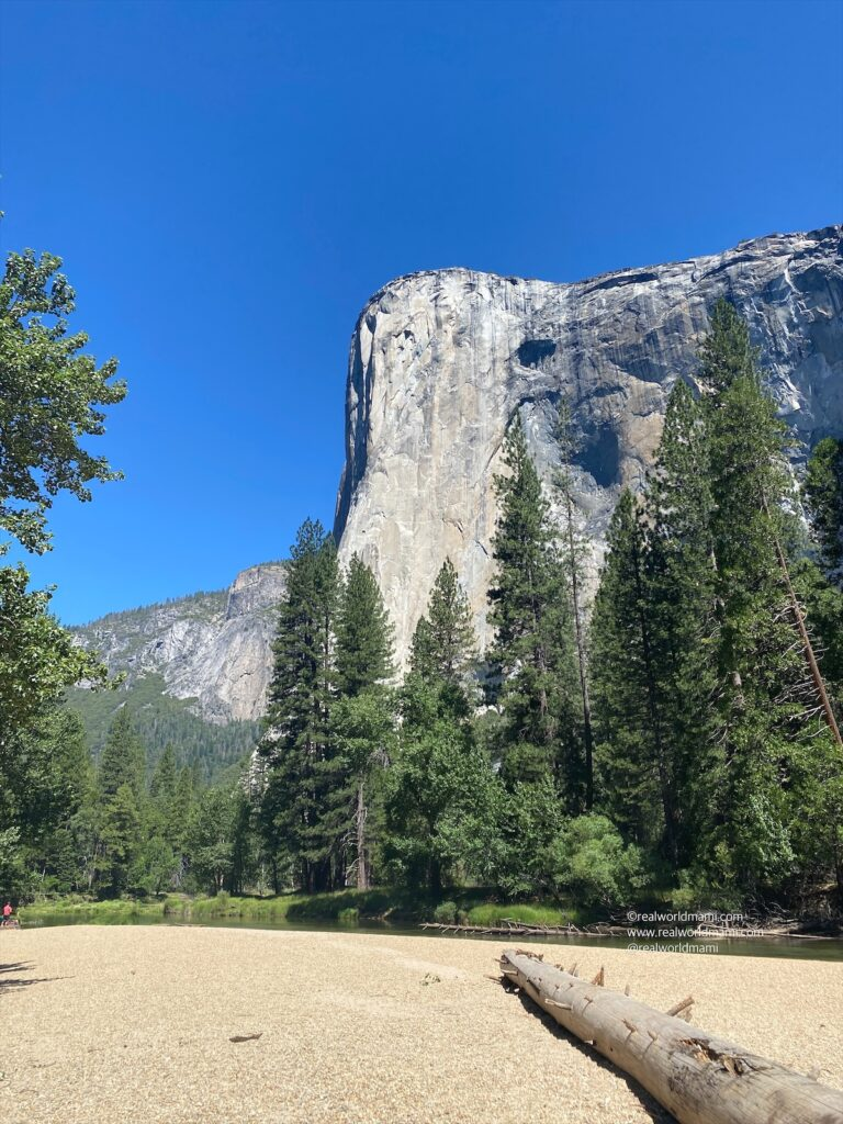 Capitan View from Cathedral beach in Yosemite
