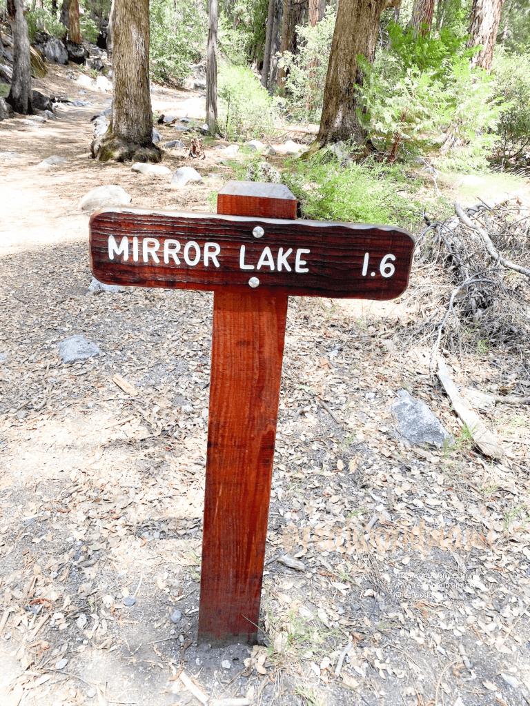 Mirror lake sign Yosemite