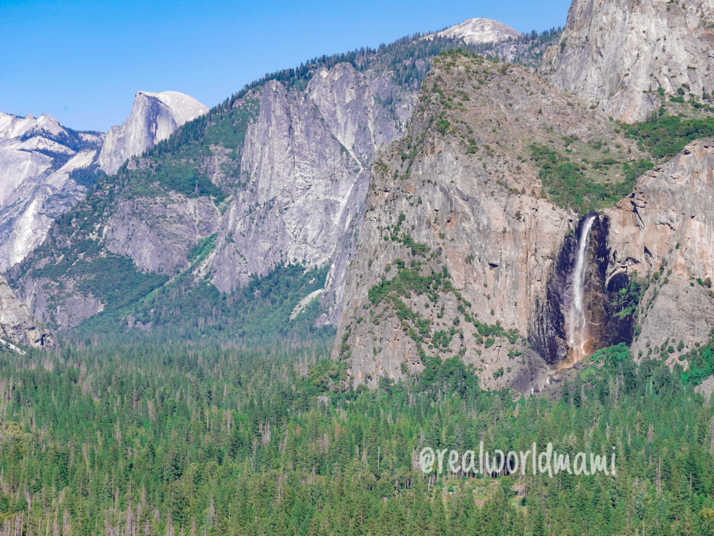 Waterfall View from Tunnel View in Yosemite