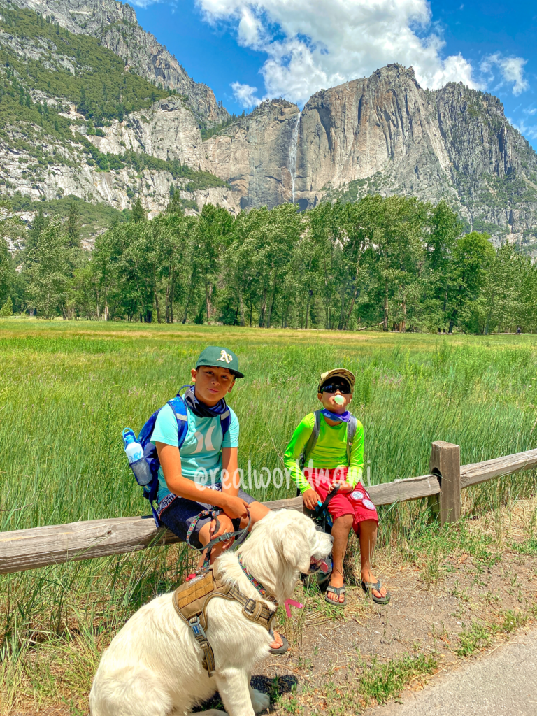 Yosemite Cook Meadow with kids